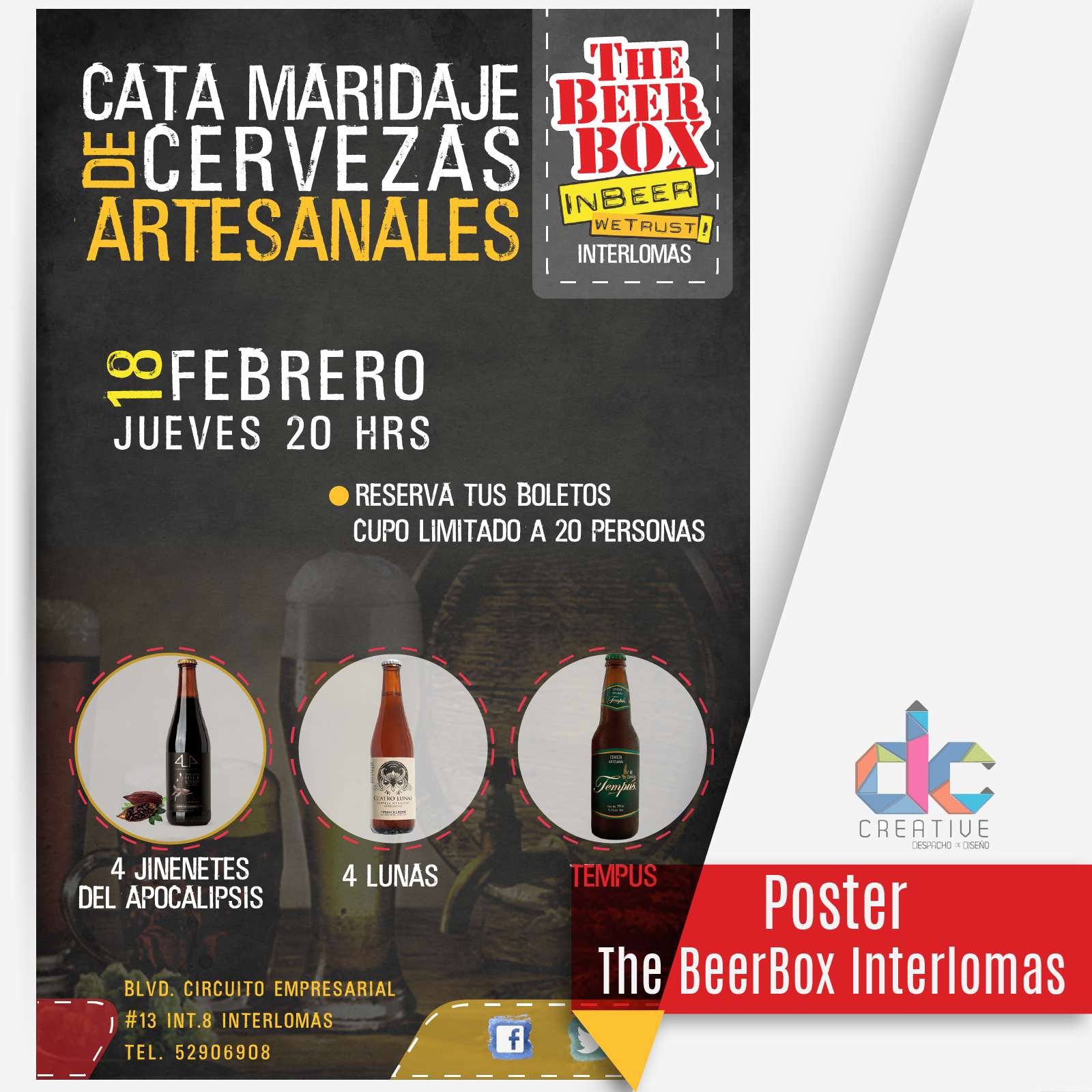 Offset Impresion de posters para The BeerBox Interlomas